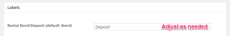 Default Bond changed to deposit