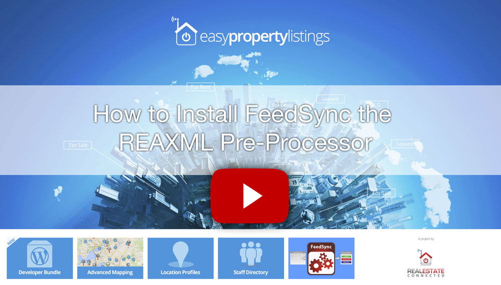 How to install FeedSync the REAXML Pre-Processor