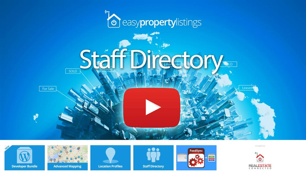 Staff Directory extension Tutorial for real estate websites