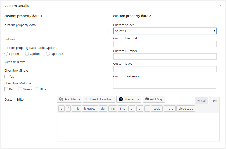 Custom Meta Fields with Easy Property Listings