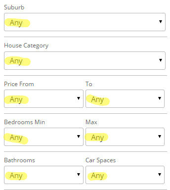 Search Widget Any Filters - Easy Property Listings