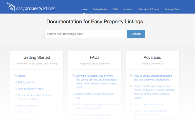 Documentation for Easy Property Listings