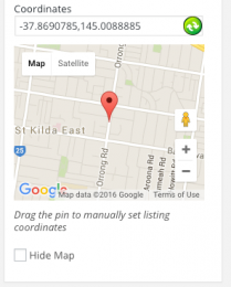 Adjustable Map Coordinates - Easy Property Listings