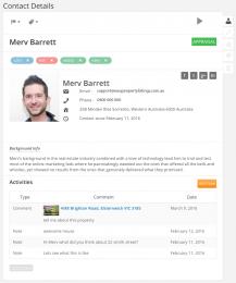 Real Estate Contact System - Merv Barrett - Easy Property Listings