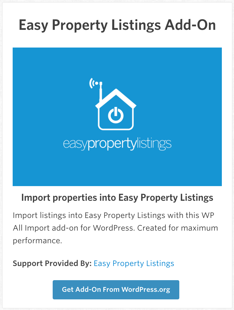 Add-Ons_-_WP_All_Import - Easy Property Listings