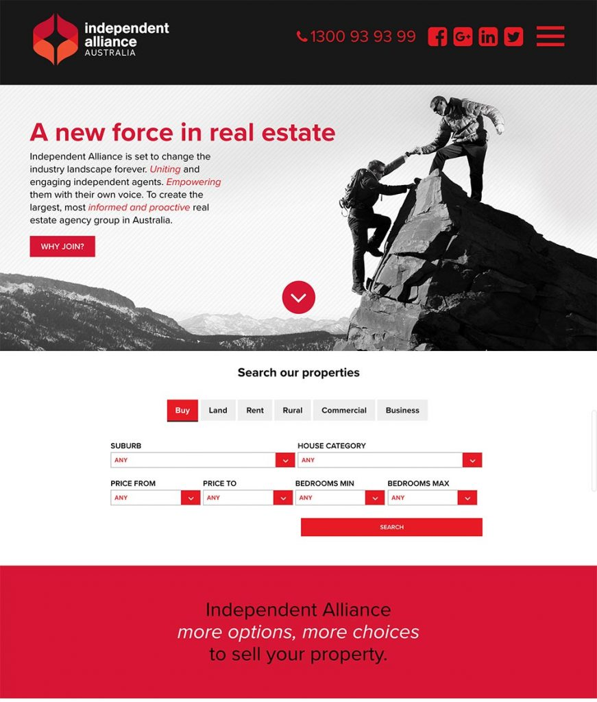 Independent Alliance Australia  - real estate