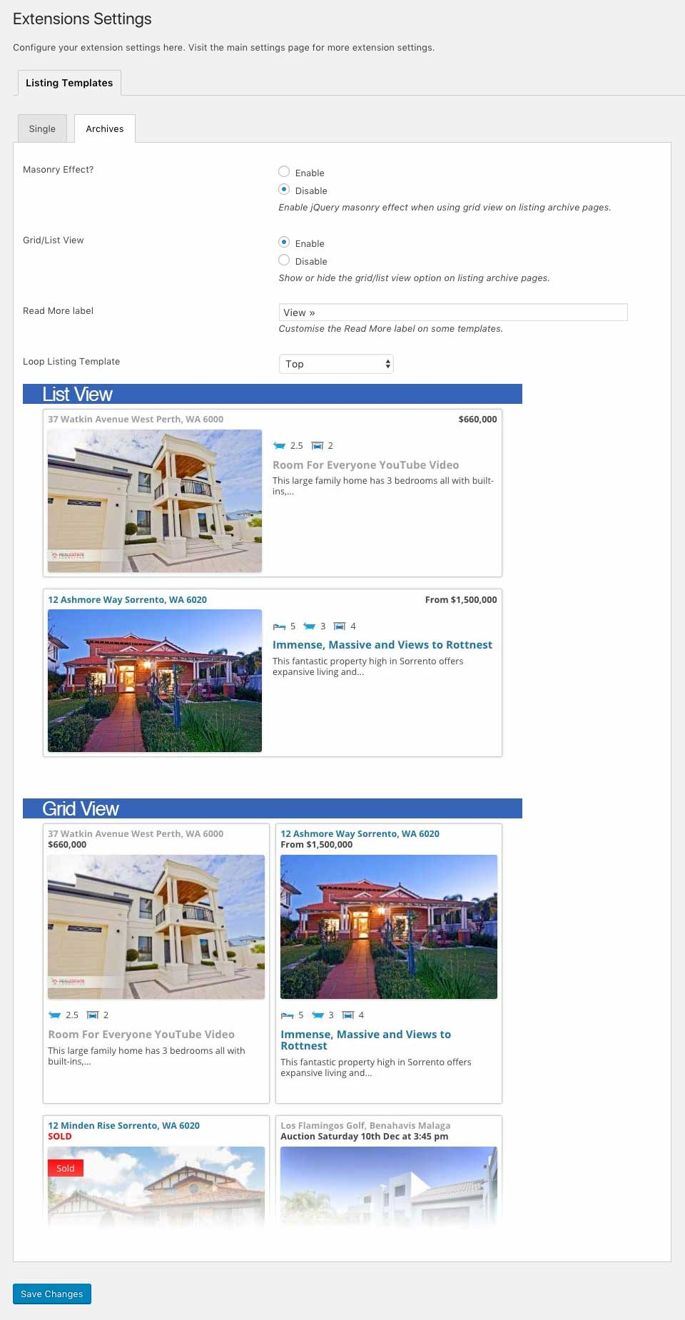 listing templates updated to easy property listings we ve added a new template browser to give you a quick look at what your listings will look like just select the template and view the preview