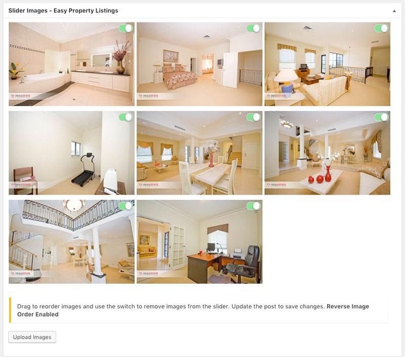 Sliders image organiser