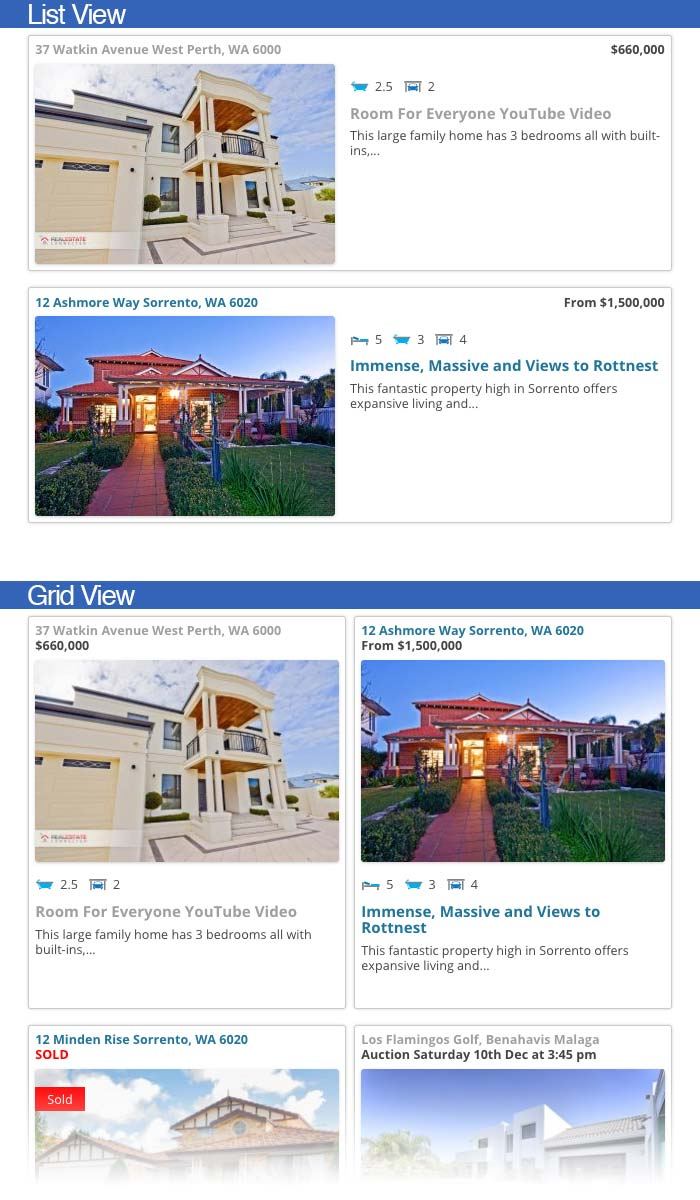property listing template