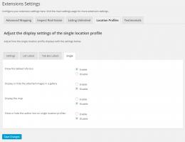Single Profile Display Options