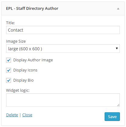Staff Directory Widget