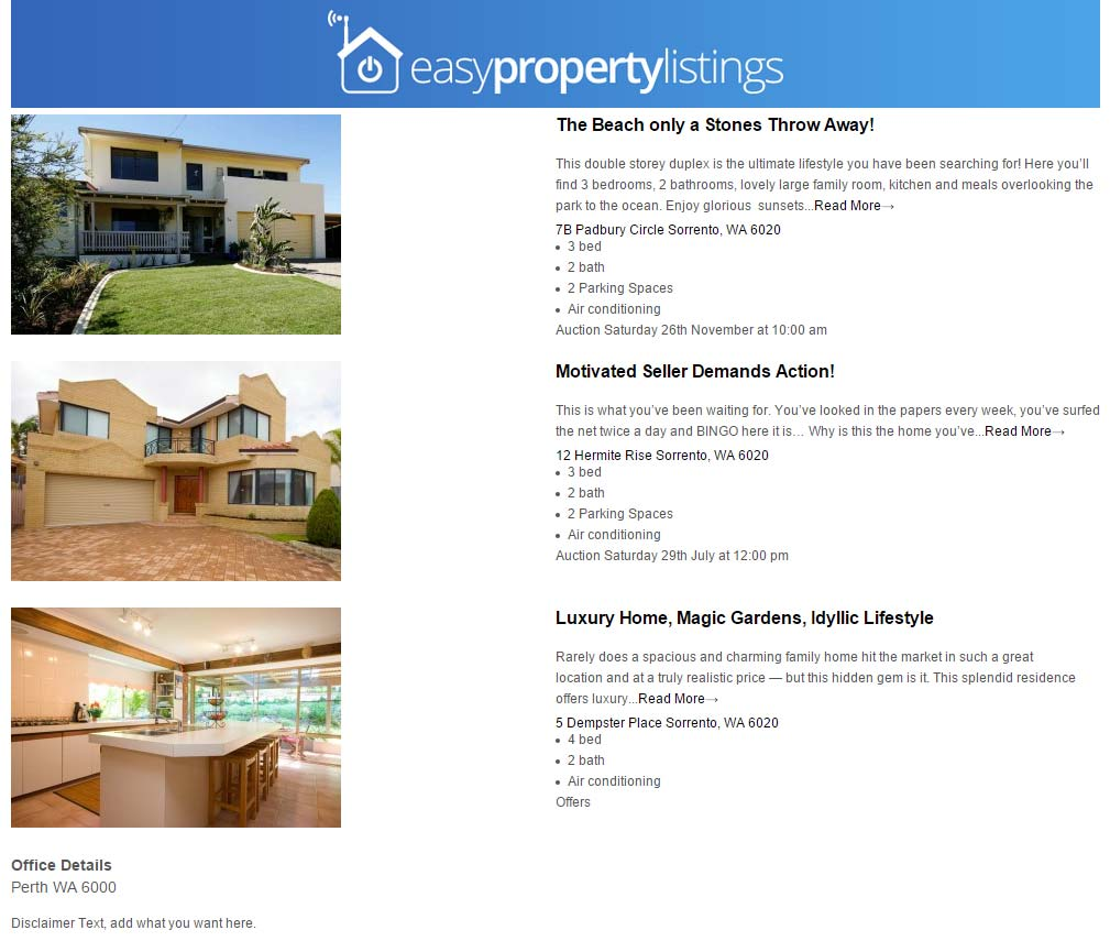 Brochire Stock List Default Easy Property Listings Wordpress Plugin