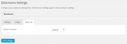 Brochures settings Stock List - WordPress plugin - Easy Property Listings